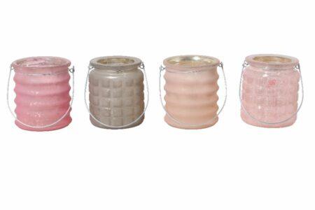 Teelicht BORON mixed rosa