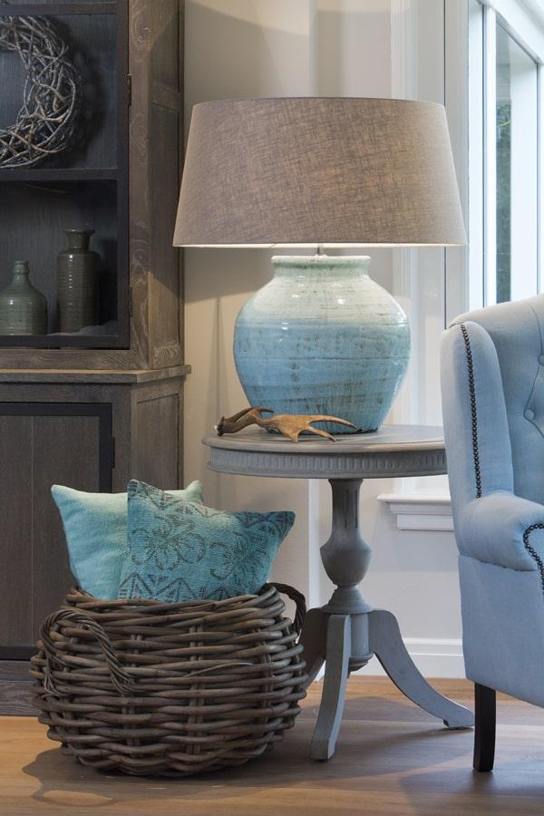 tischlampe kodovan keramik altblau gutraum8. Black Bedroom Furniture Sets. Home Design Ideas
