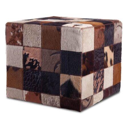 fell-hocker-braun-patchwork-fellhof