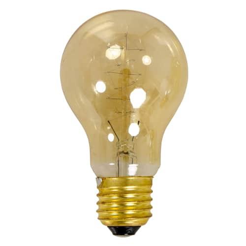Glühbirne 40 Watt man sieht dekorativ glühende Drähte