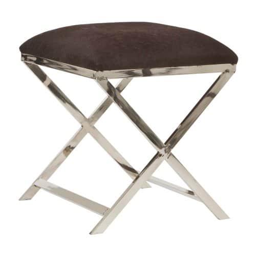 hocker grena kuhfell braun gutraum8 wohnaccessoires. Black Bedroom Furniture Sets. Home Design Ideas