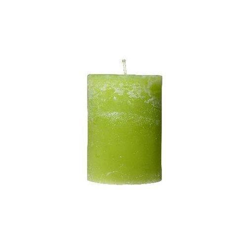 Kerze apfelgrün meliert 7x10 cm von der Marke Light und Living