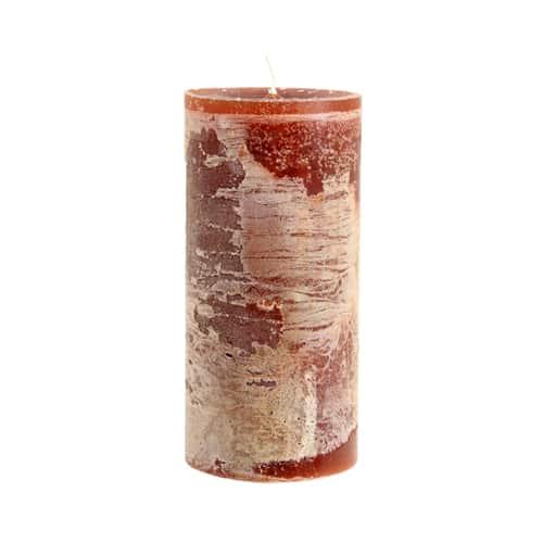Kerze karamellton meliert 7x15 cm von der Marke Light und Living