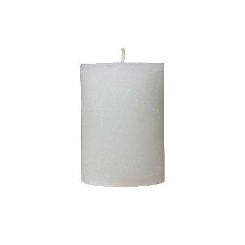 Kerze weiß meliert 7x10 cm von der Marke Light und Living