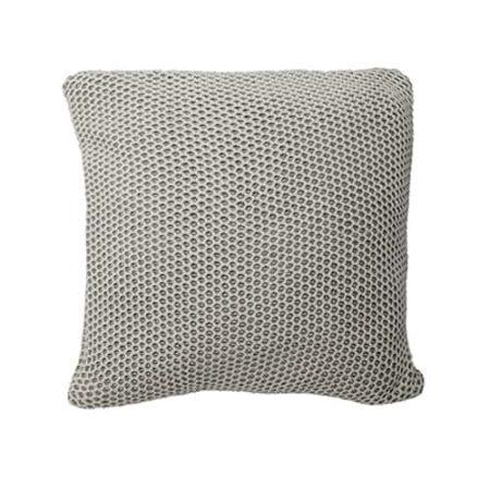 Kissen Honeycomb in hellgrau. Strick von der Marke Light und Living 50x50 cm