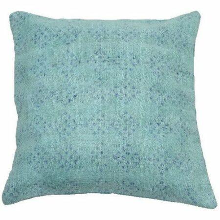Kissen Hadrian mint und blaue Ton in Ton Muster von der Marke Light und Living 50x50 cm