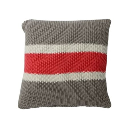 Kissen Tricolore Strick grau beige rosarot von der Marke Light und Living 50 x 50 cm