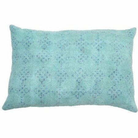 Kissen Hadrian mint und blaue Ton in Ton Muster von der Marke Light und Living 40x60 cm