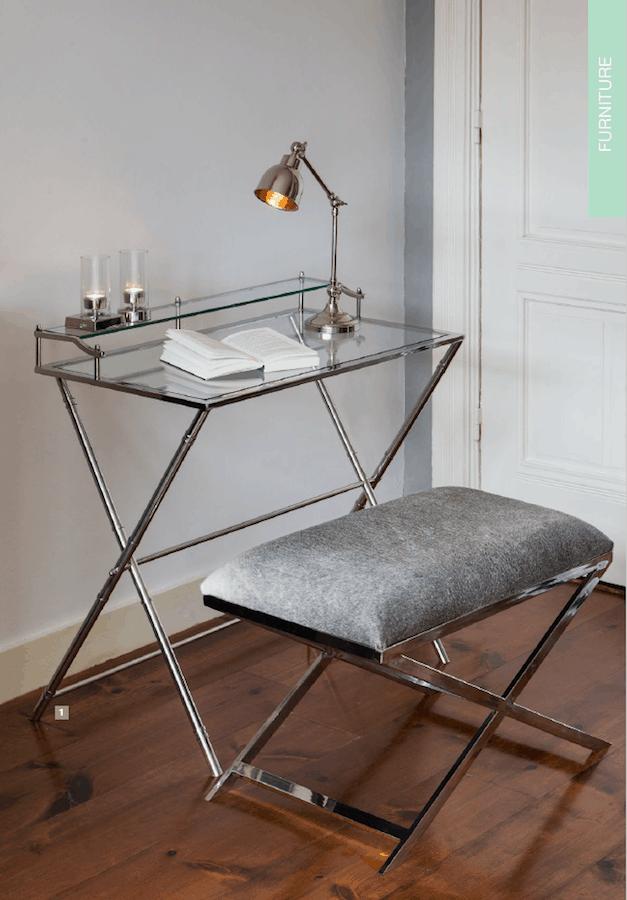 hocker grena kuhfell grau rechteckig gutraum8 m bel. Black Bedroom Furniture Sets. Home Design Ideas