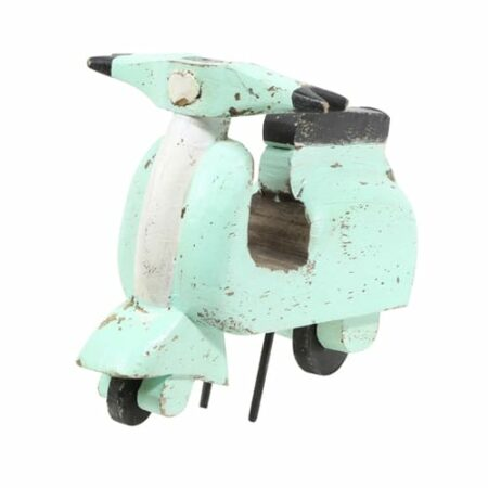 Ornament VROOM Motorroller aus Holz in mint