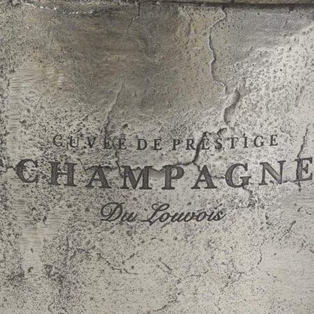 Sektkühler CRISTAL silber aus roh Nickel Industrial Stil von Light & Living