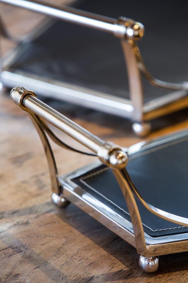 Tablett dean leder luxus gutraum8 wohnaccessoires - Luxus wohnaccessoires ...