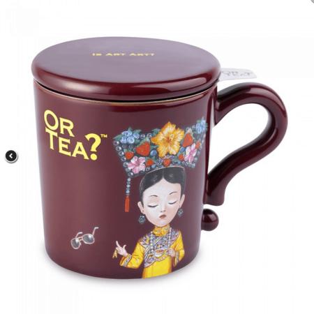 Teetasse – OR TEA? burgundy mug
