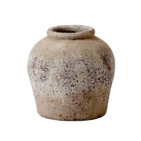 Vase Topf, gesprenkelt beigetöne