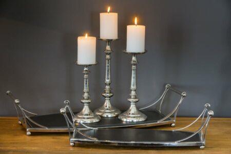 Kerzenständer NAVARRA, weisse Kerze 7x10cm