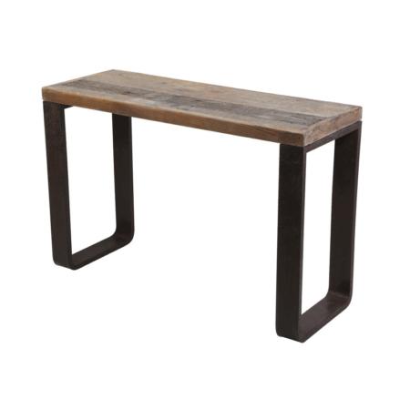 Konsolentisch CUENCA RAILWAY aus Holz und Metall Industriedesign von Light & Living