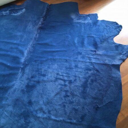 Kuhfell Teppich SKYLINE Blau