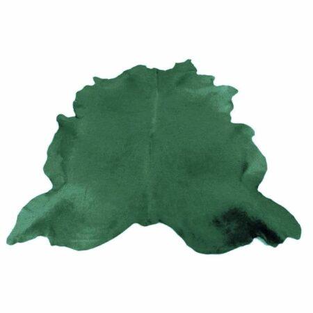 Kuhfell Teppich farbig bunt eingefärbt in Gras Grün