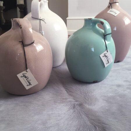 Kuhfell Teppich & Vasen