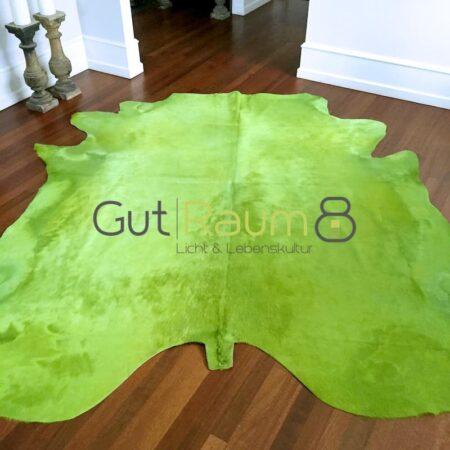 Kuhfell Teppich ca. 5 m² eingefärbt in apfelgrün