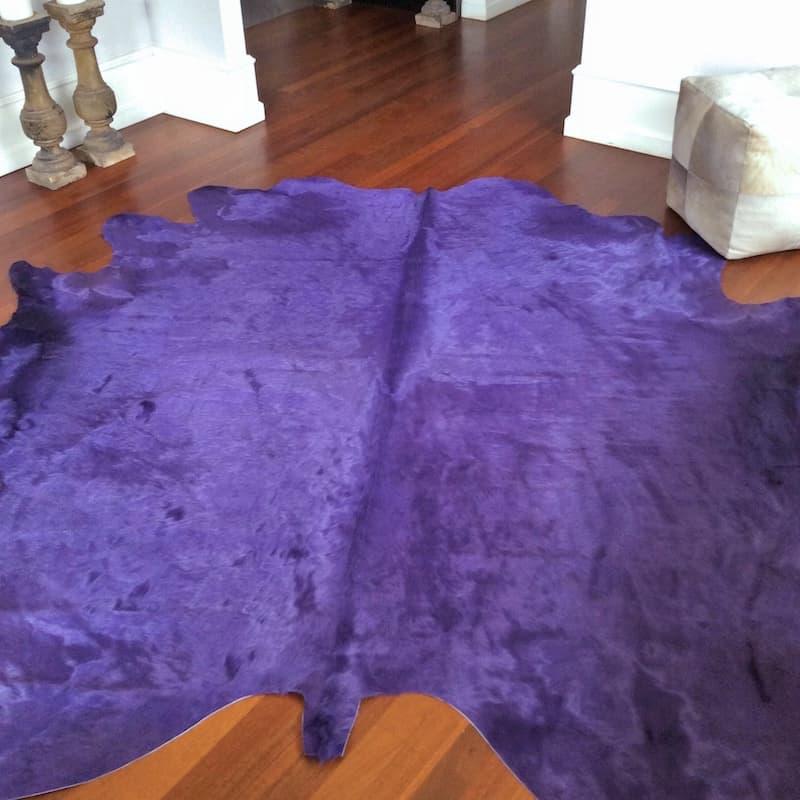 Kuhfell Teppich ca. 5 m² eingefärbt in lila