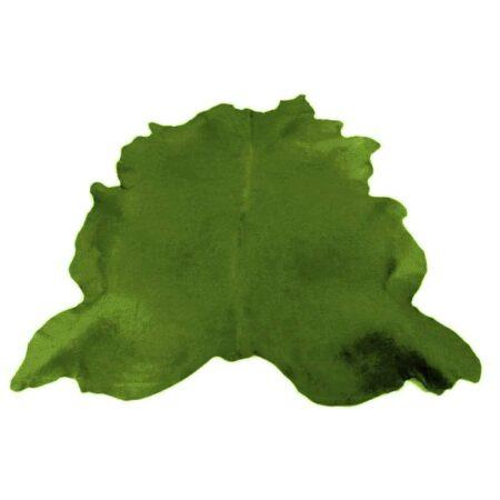 Kuhfell Teppich bunt farbig eingefärbt in Smaragdgrün