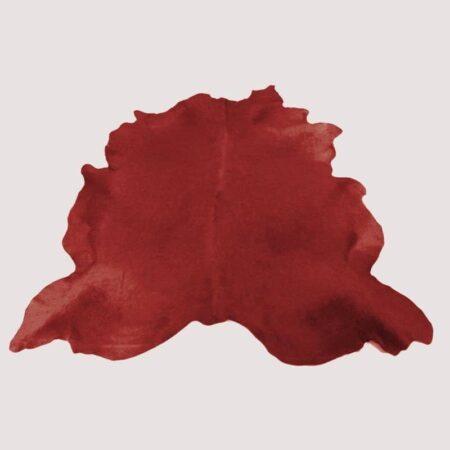 Kuhfell Teppich bunt farbig eingefärbt in Ziegelrot