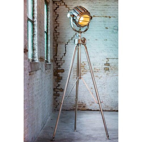 Stehleuchte BARACK von Light und Living, aus Metall, Spot-Loftlampe, Lampenfuss wie Stativ