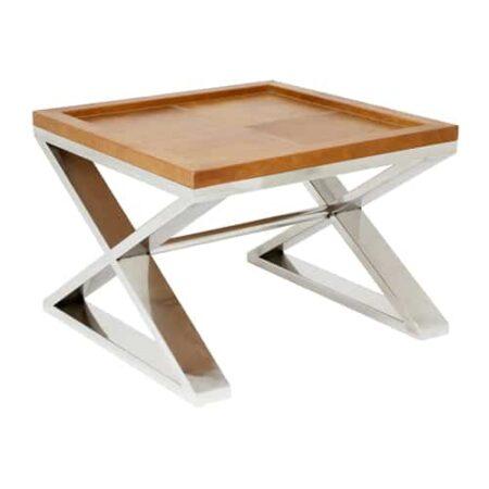 Tischplatte aus Leder