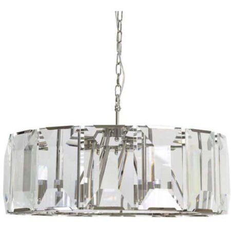 Hängeleuchte Alexia aus Glaskristall von Light & Living 76x76x42 cm