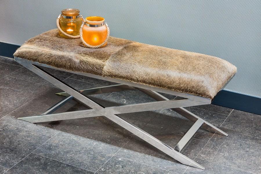 hocker grena kuhfell braun 120cm gutraum8 m bel. Black Bedroom Furniture Sets. Home Design Ideas