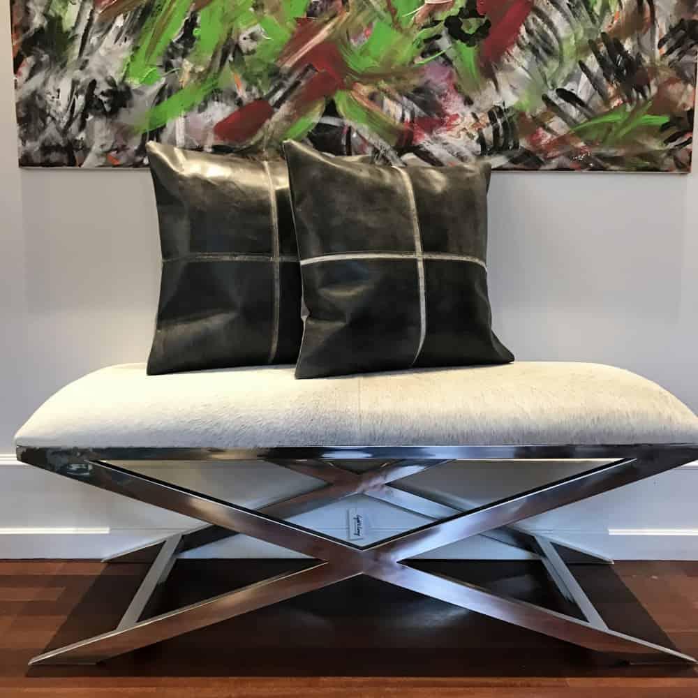 hocker grena kuhfell grau 120cm gutraum8 m bel. Black Bedroom Furniture Sets. Home Design Ideas