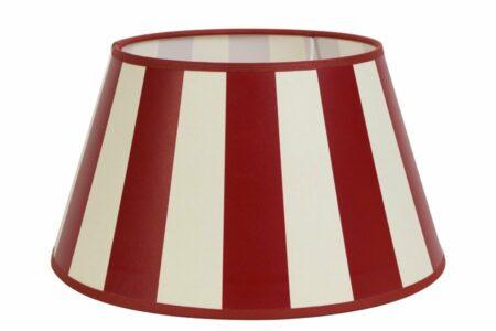 Lampenschirm in Rot-Weiss