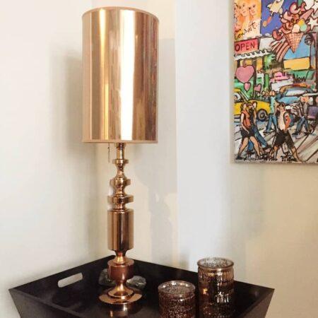 Tischlampe MERLIJN in Rotgold von Light & Living