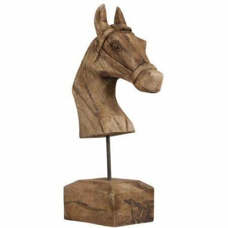Skulptur Pferd aus Holz von Light & Living