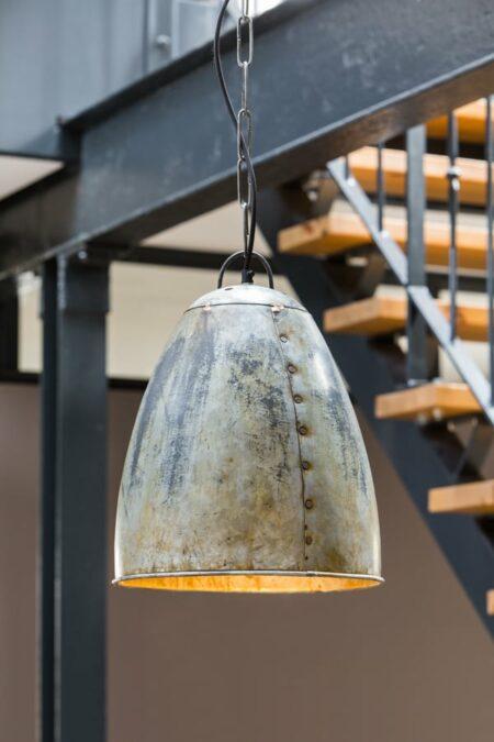 Hängeleuchte in Vintage silber, industrial Fabrik style