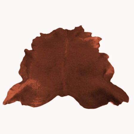 Kuhfell Teppich bunt farbig eingefärbt in Cognac Braun