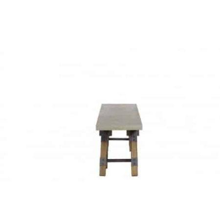 Sitzbank, Sideboard Guarami aus Zink und Holz von Light und Living