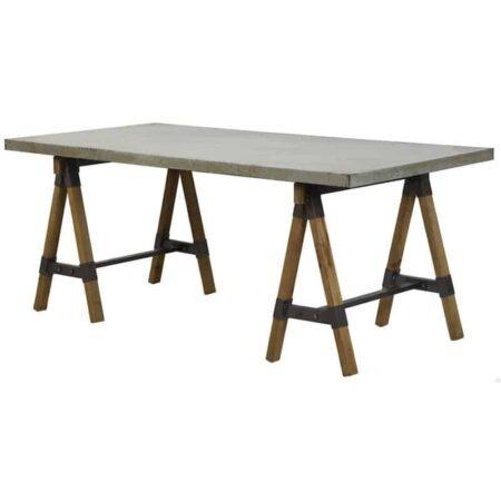 Tisch Guarami aus Zink und Holz von Light und Living, perfekt als Esstisch und Schreibtisch