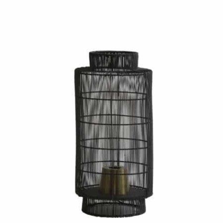 Tischlampe GRUARO aus Metall Draht anthrazit von Light & Living