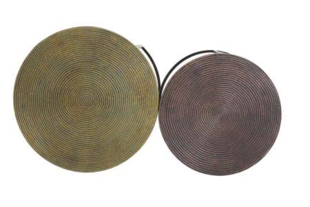 Beistelltisch TALCA im 2er Set mit besonderen Tischplatten in Gold und Bronze von Light & Living