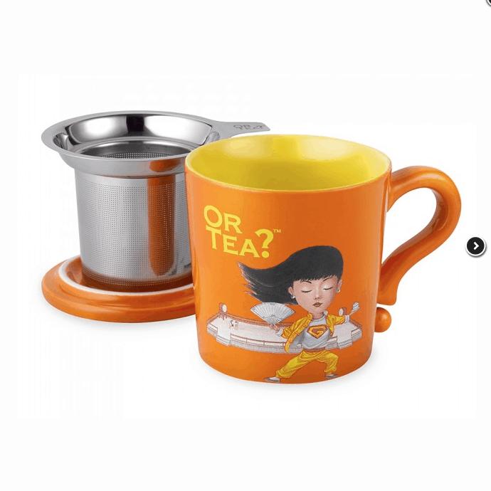 teetasse mit teesieb und deckel in orange von or tea. Black Bedroom Furniture Sets. Home Design Ideas