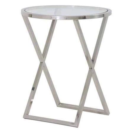 Beistelltisch PENCO, runder Glastisch von Light & Living