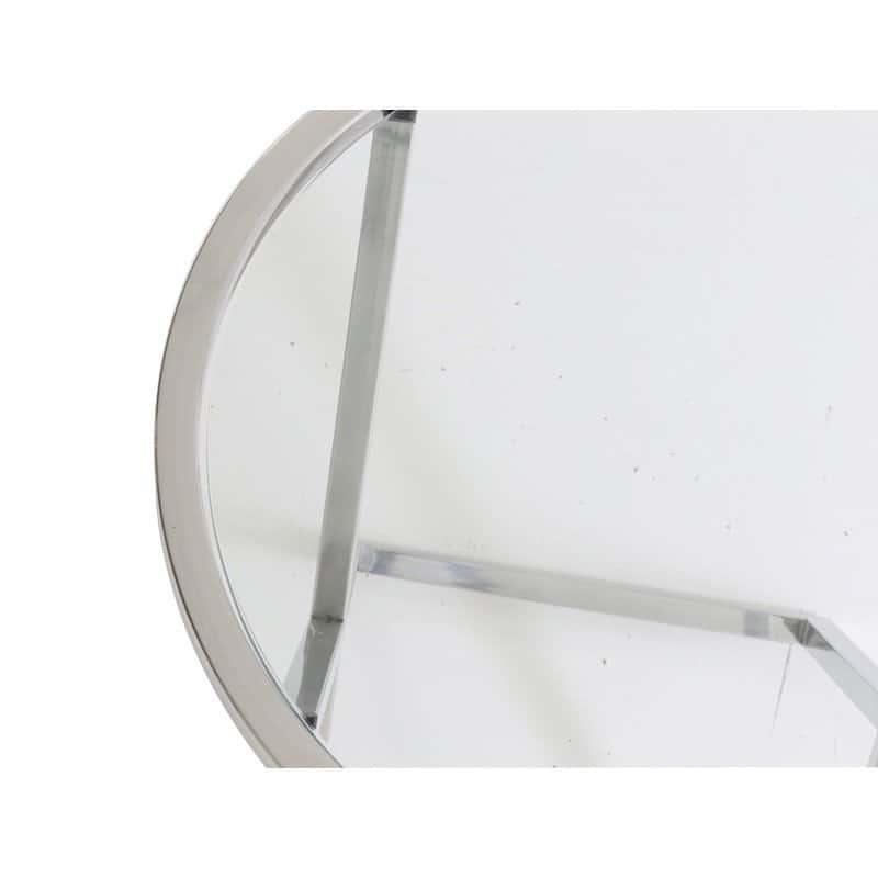beistelltisch penco glastisch silber rund gutraum8. Black Bedroom Furniture Sets. Home Design Ideas