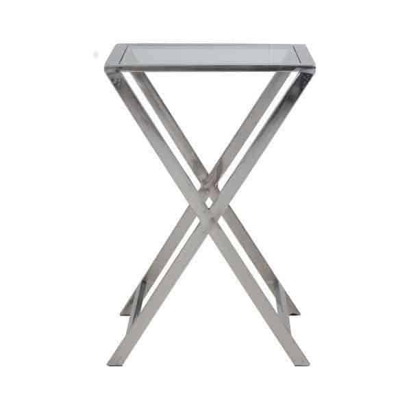 Tisch soro beistelltisch quadrat aus glas gutraum8 for Beistelltisch york
