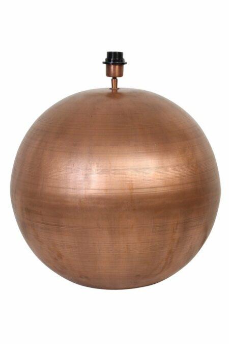 Lampenfuss STRADO Kupfer Bronze 50cm, rund wie ein Ball, von Light und Living