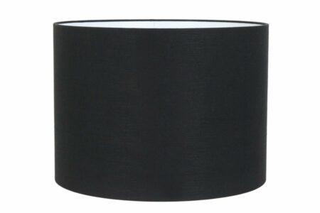 Lampenschirm Livigno STRADA schwarzer strukturierter Stoff, innen weiss für stärkere Beleuchtung - 60x43 cm