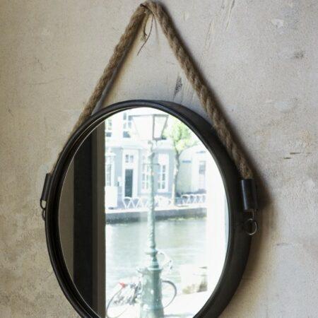 Spiegel FORCE Farbe Bronze Rund mit Tau von Light & Living
