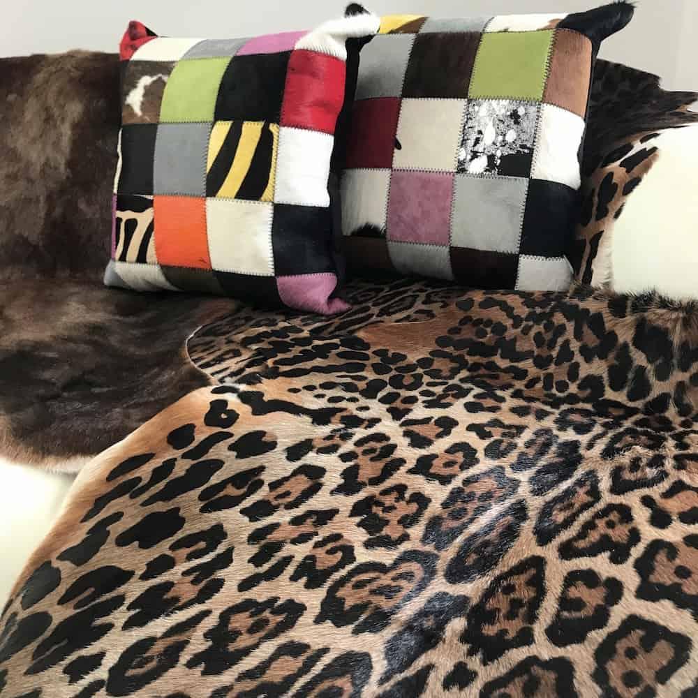 fellhof blessbock fell bedruckt leopard 125x80 cm gutraum8. Black Bedroom Furniture Sets. Home Design Ideas