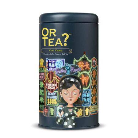 Or Tea? Yin Yang, loser schwarzer Tee in hipper Dose